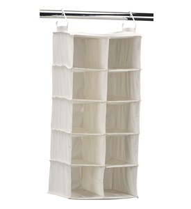 10-Pocket Hanging Closet Shoe Organizer Image