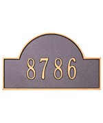 Arch Lawn Address Plaque - Estate One-Line