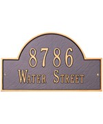Arch Lawn Address Plaque - Estate Two-Line