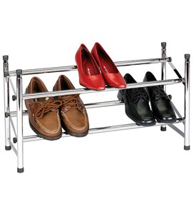 Stacking Expandable Shoe Rack - Chrome Image