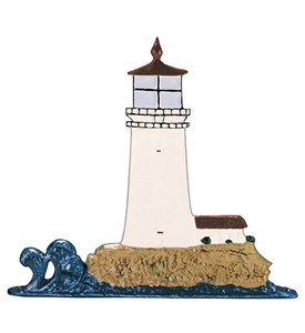 Whitehall Address Sign Ornament - Lighthouse Image
