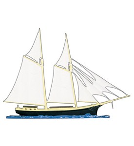 Whitehall Address Sign Ornament - Schooner Image