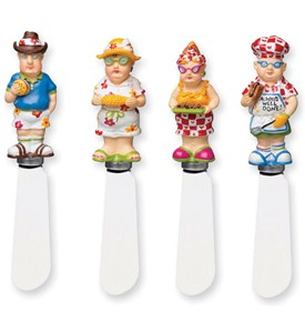 BBQ Folk Cheese Spreaders (Set of 4) Image