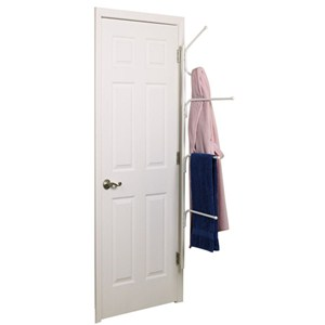 Clutter Buster Door Towel Rack Valet Plus - White Image