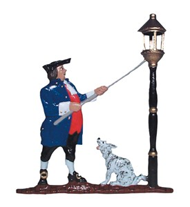 Whitehall Address Sign Ornament - Lamplighter Image