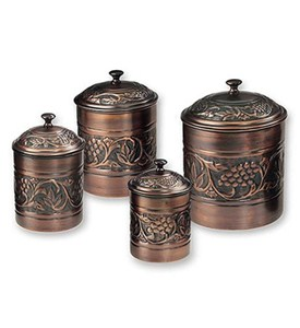 Kitchen Canister Set - Antique Copper (Set of 4) Image