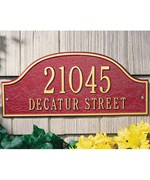 Admiral Wall Address Plaque - Two-Line