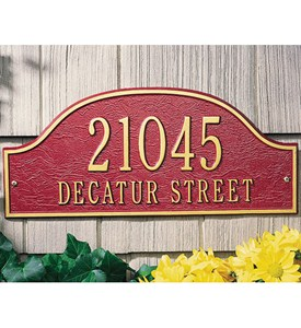 Admiral Wall Address Plaque - Estate Two-Line Image