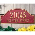 Admiral Wall Address Plaque - Estate Two-Line