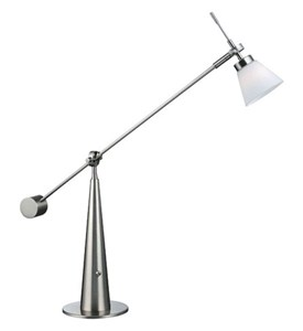 Polished Steel Desk Lamp Image