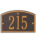 Cape Charles Entryway Home Address Plaque