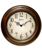 Infinity Instruments Clock - Antique Gold Atheneum