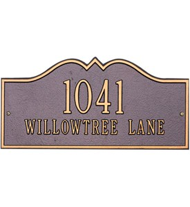 Hillsboro Lawn Address Plaque - Two-Line Image