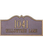 Hillsboro Lawn Address Plaque - Two-Line