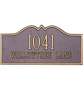 Hillsboro Wall Address Plaque - Estate Two-Line Image