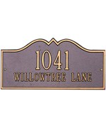 Hillsboro Lawn Address Plaque - Estate Two-Line