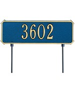 Two-Sided Rectangle Lawn Address Plaque - One-Line