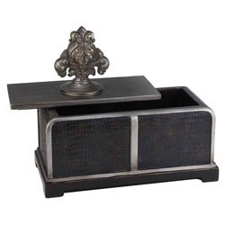 11 Inch H Sobek Dark Espresso Decorative Box by O.R.E. Image