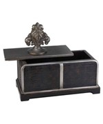 11 Inch H Sobek Dark Espresso Decorative Box by O.R.E.