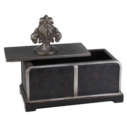 11 inch h sobek dark espresso decorative box by ore