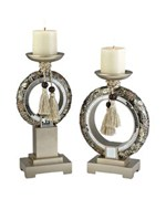 Pillar Candle Holders - Chrysanthemum