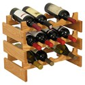 12 Bottle Wine Rack - Oak