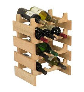 12 Bottle Wine Rack - Vertical Image