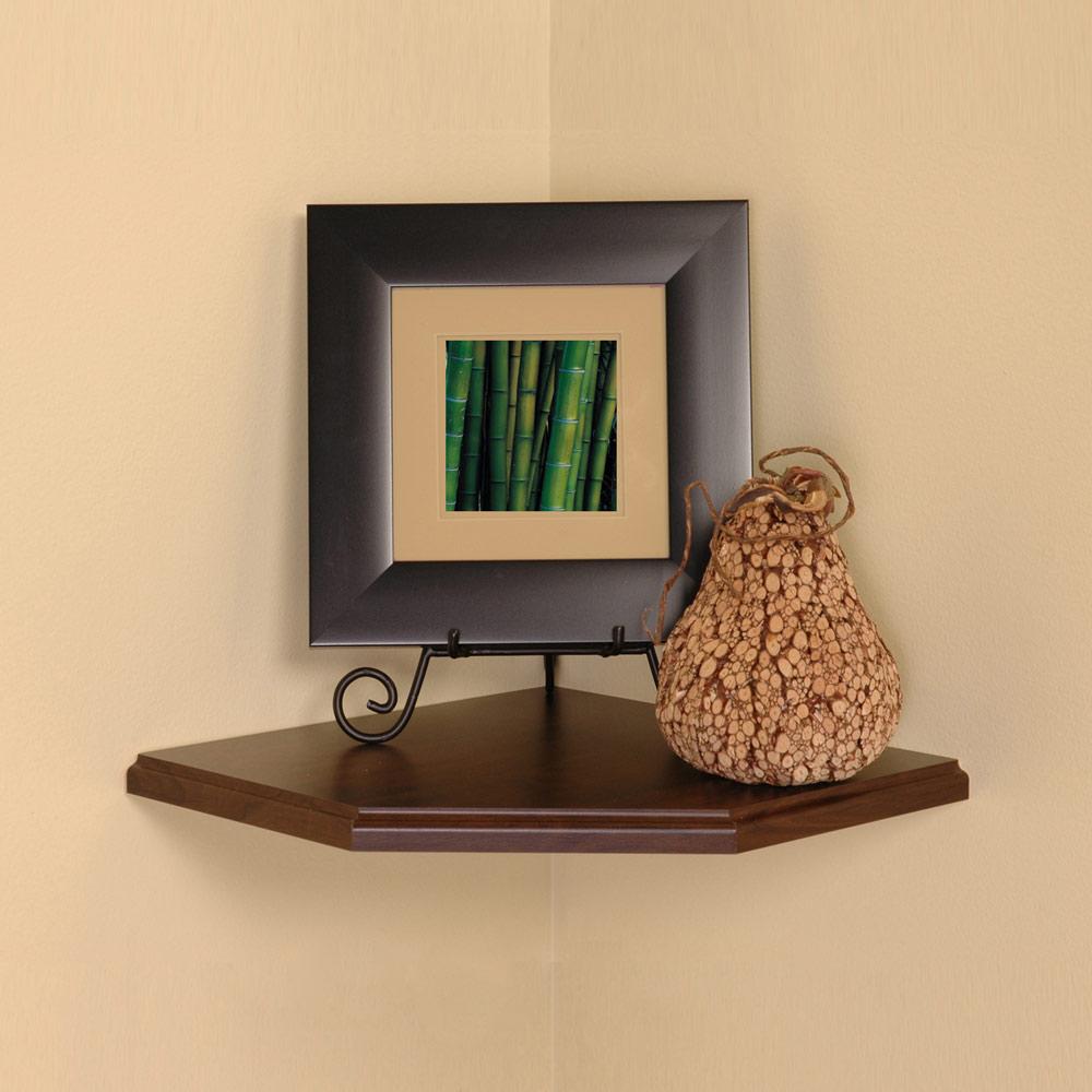 12 inch floating corner shelf in wall mounted shelves. Black Bedroom Furniture Sets. Home Design Ideas