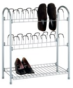 12 Pair Wire Shoe Rack with Storage Shelf