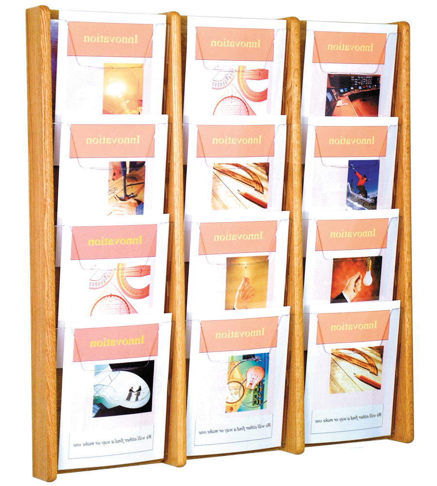 wall magazine rack 9 pocket literature rack 12 pocket
