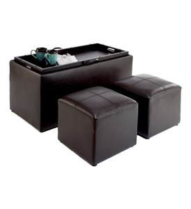 Storage Bench and Ottomans Image