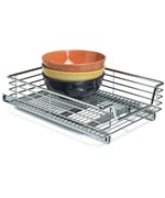 Chrome Sliding Cabinet Organizer