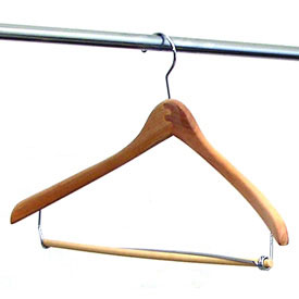 22 inch contoured natural suit hangers set of 6 image
