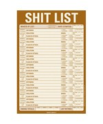 Shit List Notepad