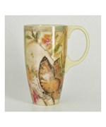 Coffee Latte Cup with Butterflies