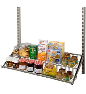 freedomRail Two-Tier Profile Wire Shelf - Nickel Image