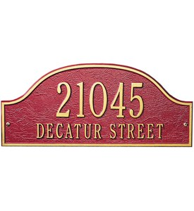 Admiral Lawn Address Plaque - Two-Line Image