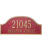 Admiral Lawn Address Plaque - Estate Two-Line