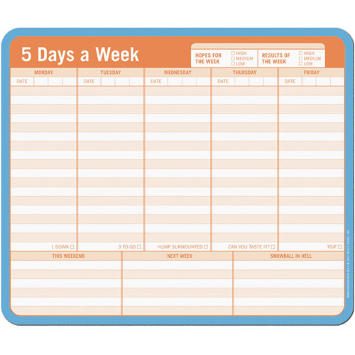 Note Paper Mouse Pad - Weekly Planner in Notepads and Pens