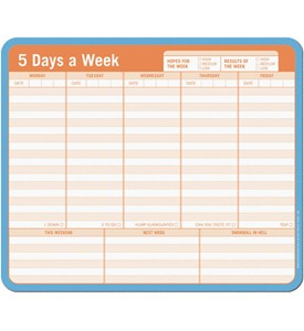 Note Paper Mouse Pad - Weekly Planner Image