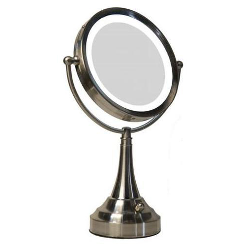 Vanity Light Up Makeup Mirrors : LED Lighted Vanity Make-Up Mirror in Makeup Mirrors
