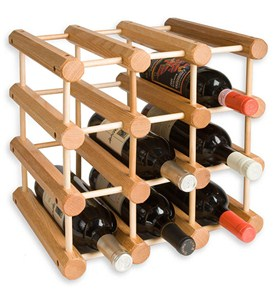 Modular 12-Bottle Wood Wine Rack Image