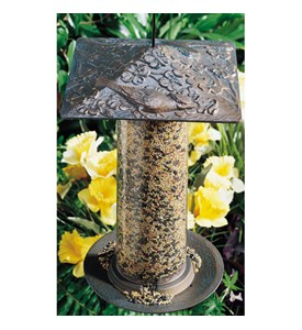12 Inch Tube Bird Feeder - Cardinal Image