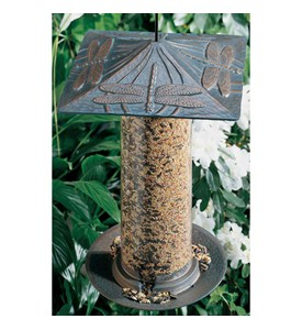 12 Inch Tube Bird Feeder - Dragonfly Image