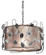 12 Inch H Silver Crystal Ceiling Lamp by O.R.E.