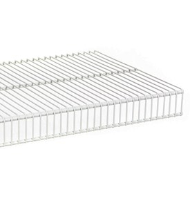Tight Mesh Wire Shelving - 12 Inch Image