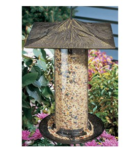 12 Inch Tube Bird Feeder - Pinecone Image