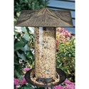 12 Inch Tube Bird Feeder - Pinecone