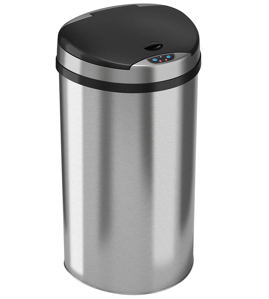 13 Gallon Semi Round Trash Can in Kitchen Trash Cans