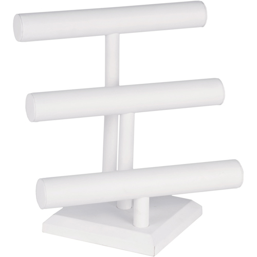 Leatherette Jewelry Display Stand - Three-Tier Image